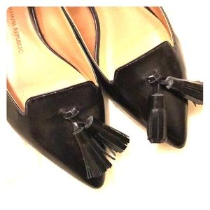 Banana republic black loafer flats